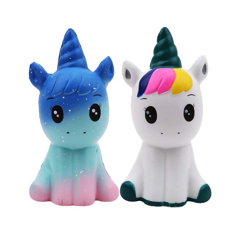 Wholesale fashion eco friendly jumbo PU unicorn slow rising kawaii squishy stress relief <strong>toys</strong> for stress reliever