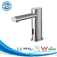 Hygienic incredible design metal body automatic office lavatory basin faucet