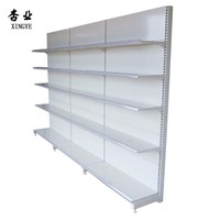 Q235 mental milk white Flat panel Supermarket display rack shelf manufacturer