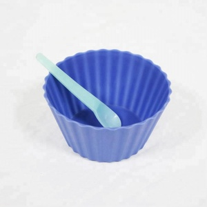 eco-friendly disposable plastic pp ice cream bowl with spoon