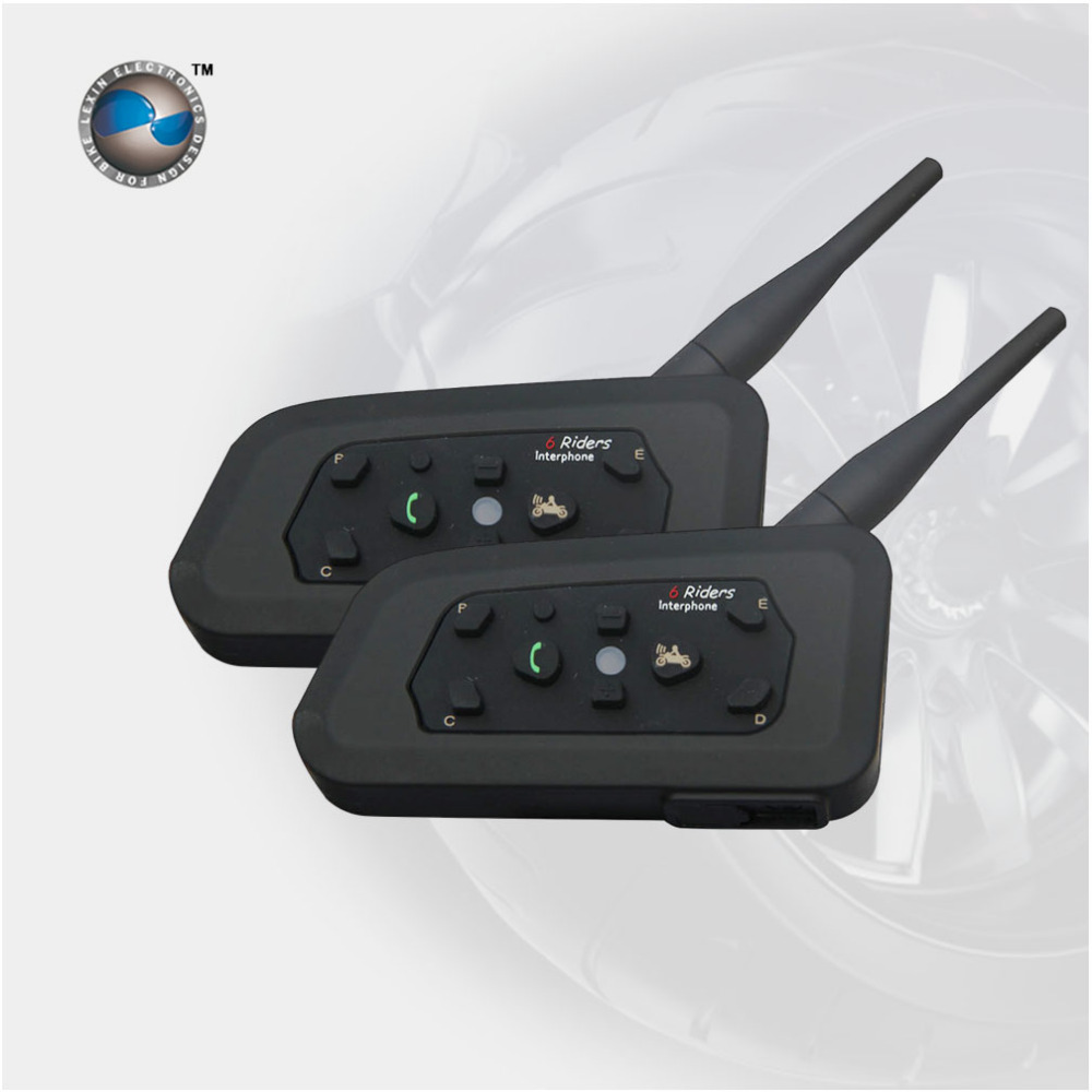 surprise! Motorcycle Bluetooth Helmet Intercom upto 6 riders Multi Wireless Waterproof  Interphone Headsets 1KM, Free Shipping!