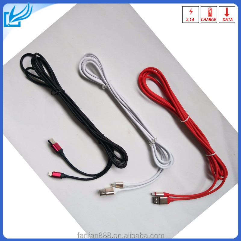 factory Price ! Alloy Metal Micro USB Cable for smart devices