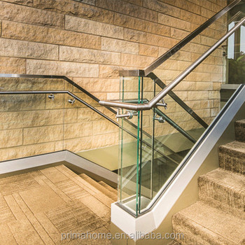 Perfect Residential Decorative Wrought Iron Stair Railing Panels / Fence Glass  Handrails With High Quality