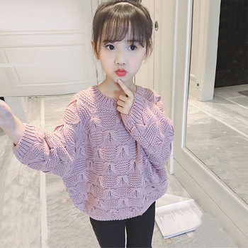 S11086A 2019 Hot Selling Fashion Sweater Design Knitted Pullover Sweater For Kids