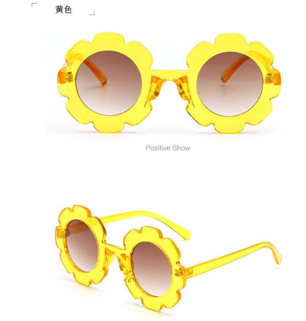 Promotional Customized Cute round Vintage Baby flower kids sunglasses