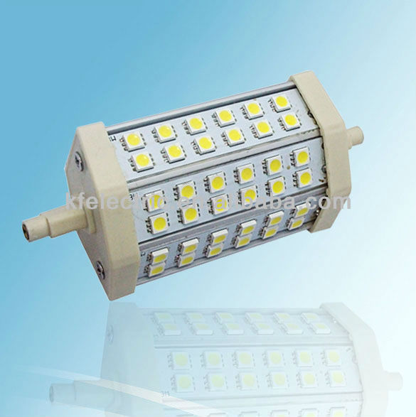 R7s 5050 SMD 42 LEDs Blanc Nature 6000K 118mm