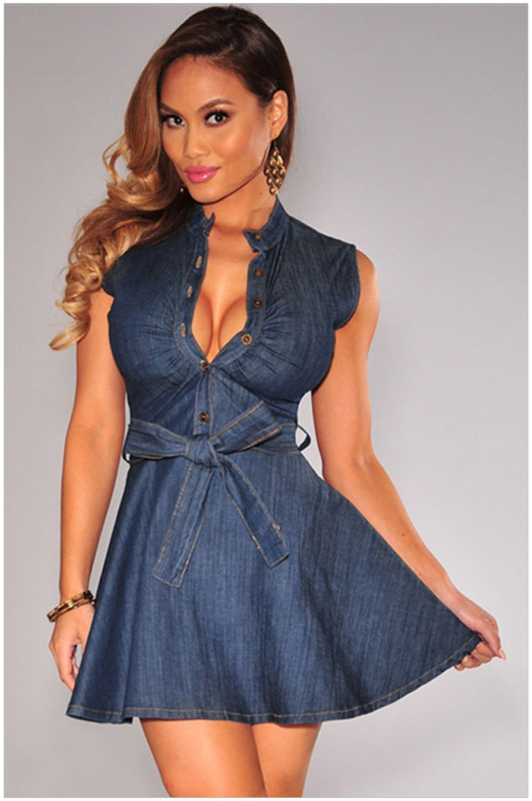 5e377f6403 Unique Lyst - Armani Jeans Knee-length Dress In Blue