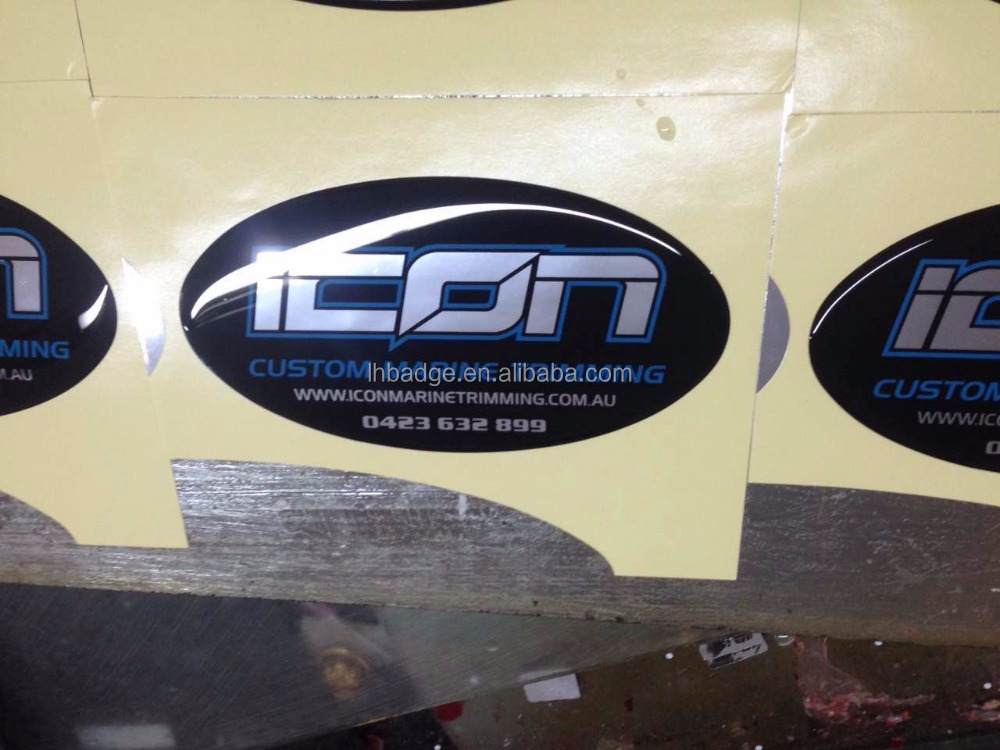 custom quality boat or marine trimming PU dome sticker