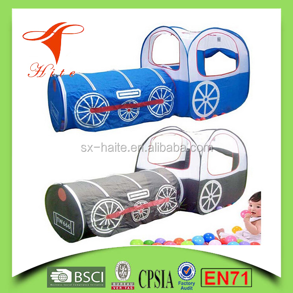 Kids play train shape tent