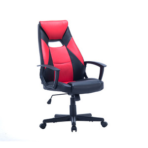 Bottom price pure color soft swivel fix armrest gaming chair with headrest