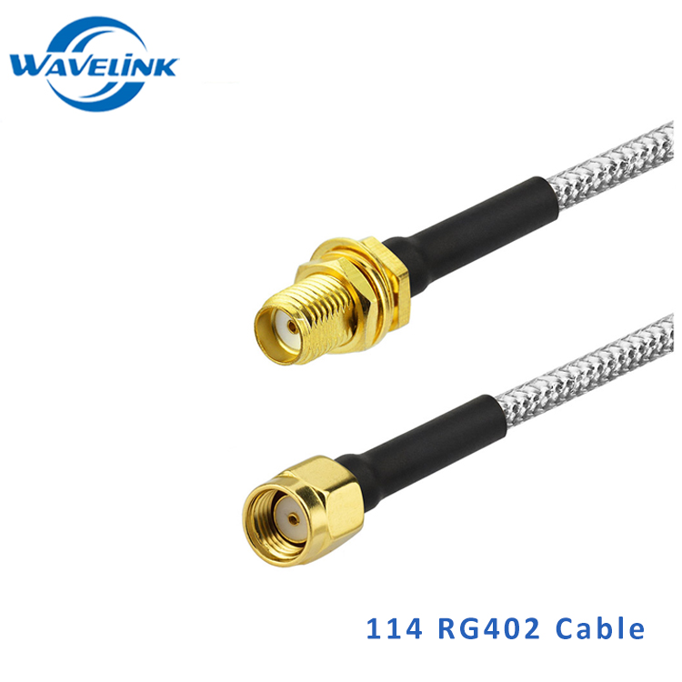 RG402 RG086 Semi-Flexible RA mmcx to N Female Jacket silver plated Coaxial Cable For 3G Wireless Antenna