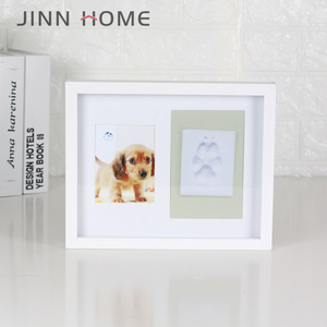 Dog or Cat Paw Print Pet Keepsake Footprint Kit Photo Frame With Clay Pet Lovers Pet Memorial Picture Frame
