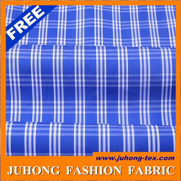 blue and white check fabric mens shirt fabric