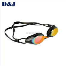 Mirrored optical swimming goggles for adult swim goggle