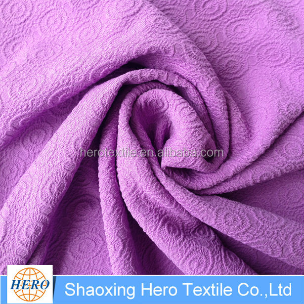 Embossed Blackout Top Grade Linen Type Cloth Window Purple Textile