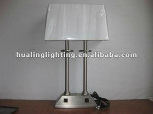 Modern Brushed Nickel Table Lamp for Hotel