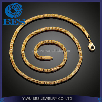 China Factory Export Professional Copper Jewelry 18K Vacuum Gold Plating Necklace