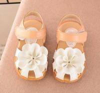 2018 New Summer baby girls sandals PU Leather Flower style Skidproof Toddlers Kids sandals Shoes Size
