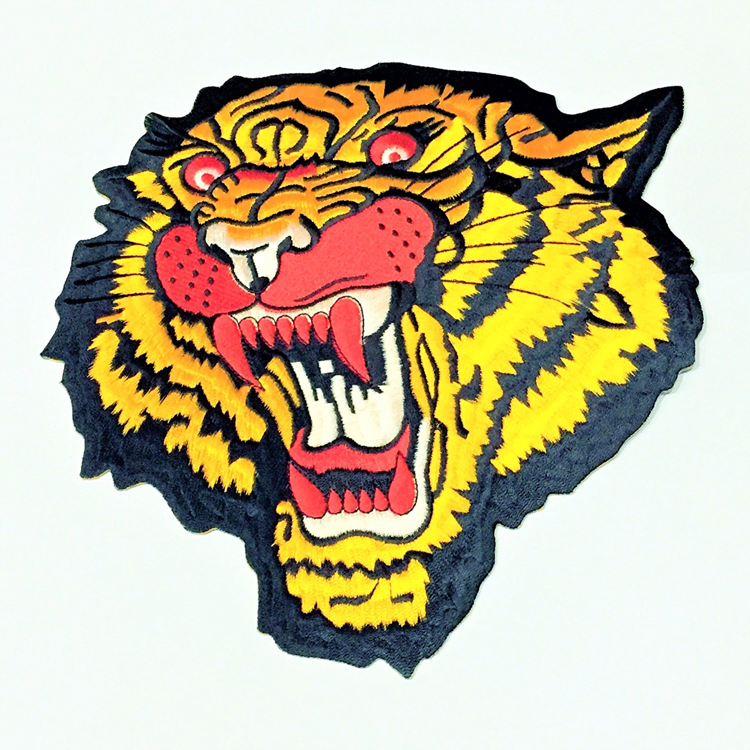 37a4f0ea6e8cf Back Patch Tiger Head Large Motorcycle Biker MC Racing Bengal Tigris Iron  On Wild Animals Punk Metal Embroidered Patches Size 8 x 8 Inches For Jackets  Vests ...