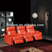 Modern design home theater furniture leather reclining cinema sofa 610-2