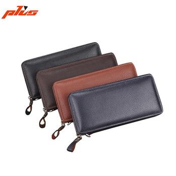 best website ee1e1 aa5db Wholesale Long Design Leather Men's Travel Wallet Clutch Zipper Phone  Wallet With Wrist Strap - Buy Leather Travel Wallet Product on Alibaba.com