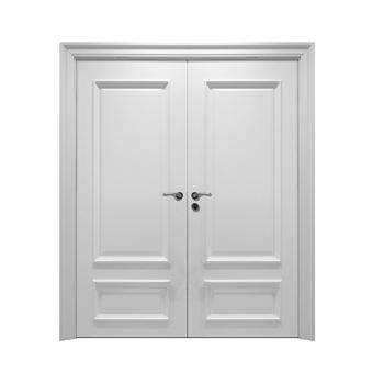 2014 New Design Fashin White Wooden Double Door Main Indian Door