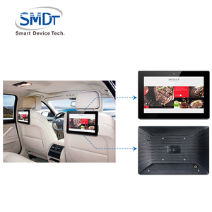 High quality 10.1 inch taxi advertising lcd car headrest monitor 5 points touch android 6.0 sim card slot