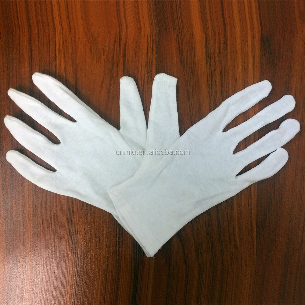 Hot sale cheap price brand white cotton jewelry gloves