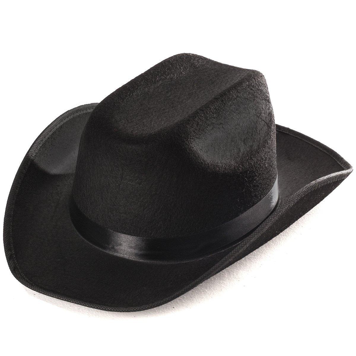 Funny Party Hats Black Cowboy Hat - Cowboy Hats - Western Hat - Unisex  Adult Cowboy 77c9096e6f7