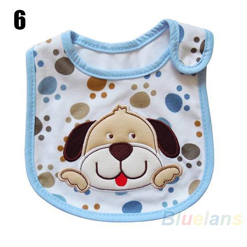 Девочка мальчик полотенце слюны водонепроницаемый дети комикс узор 3 слой детский обед нагрудники рыгающие ткани 02EO 46I8