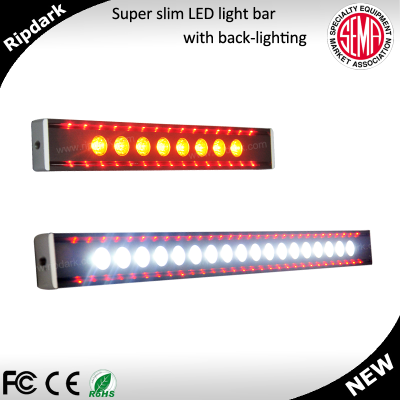 Dual Color Amber White Led Bar Slim
