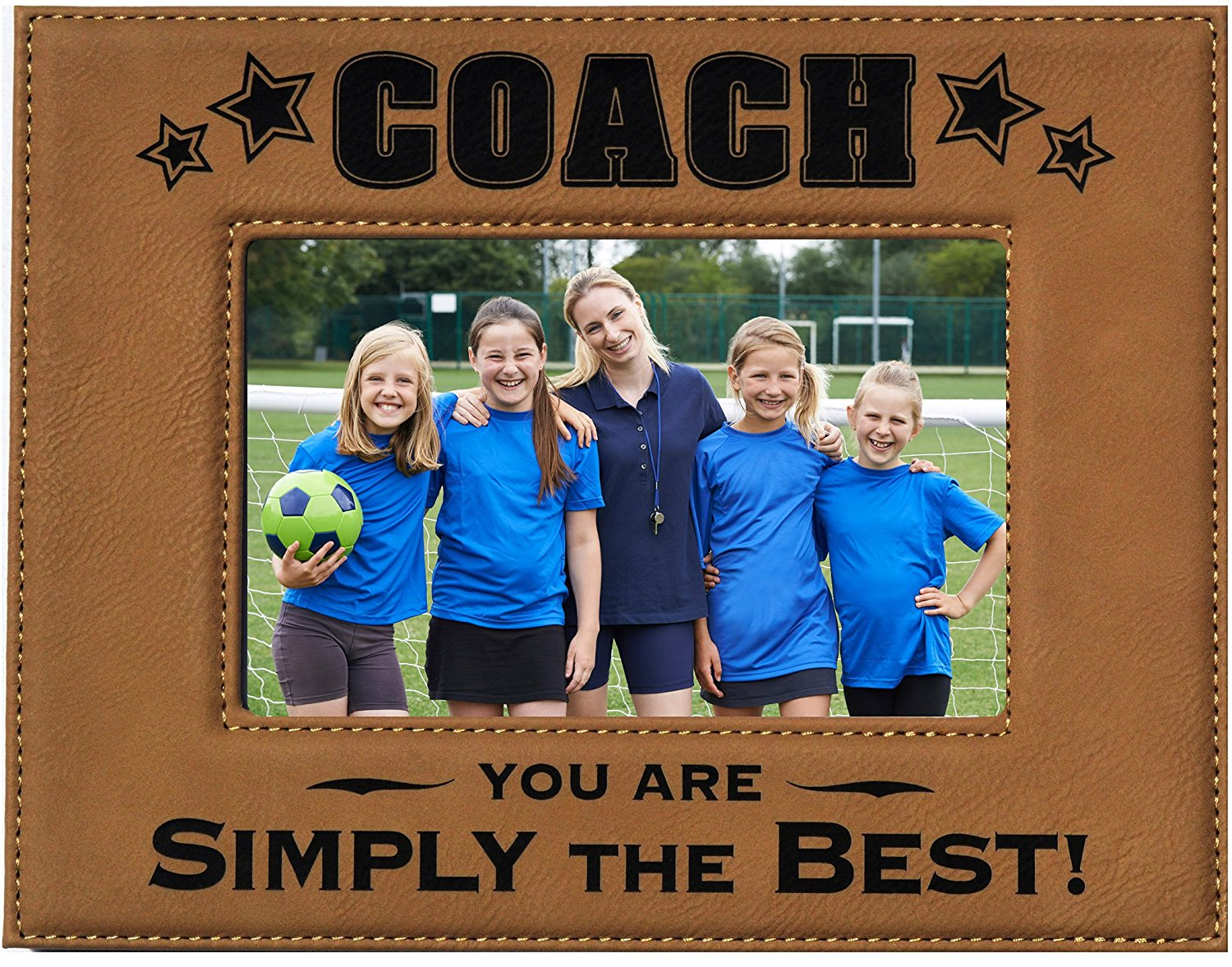 get quotations gift coach picture frame engraved leatherette picture frame coach you are simply the