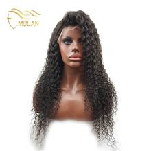 Qingdao Mulan wigs wholesale Indian human hair afro kinky curly full lace wigs
