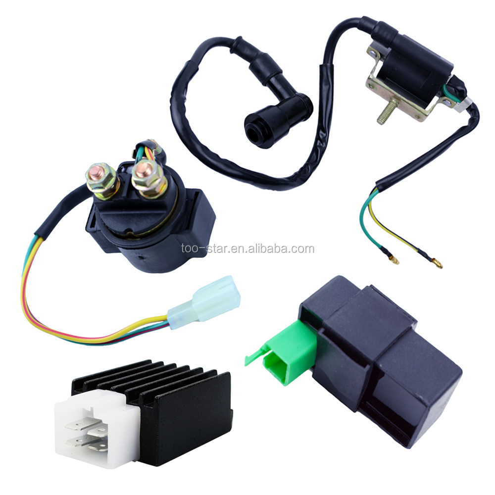 Ignition Coil Cdi Box Regulator Rectifier Relay For 50cc 70 90cc 110 Cc  125cc Chinese Atv Quad - Buy Ignition Coil,Cdi Box,Ignition Coil And Cdi