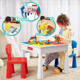 Multifunctional building table and chairs children blocks toy table Learn desk
