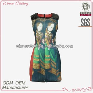 girls high quality sublimation print dress