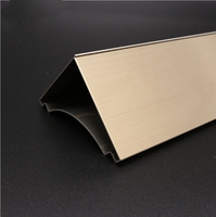 Foshan export high quality stainless steel wall transition strips trim