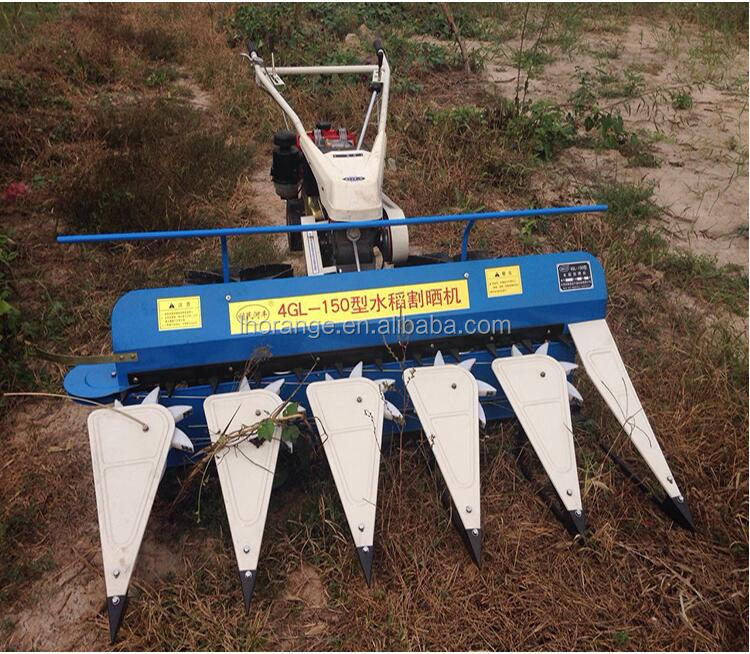 Hot Selling mini type rice reaper/ wheat rice harvesting machine