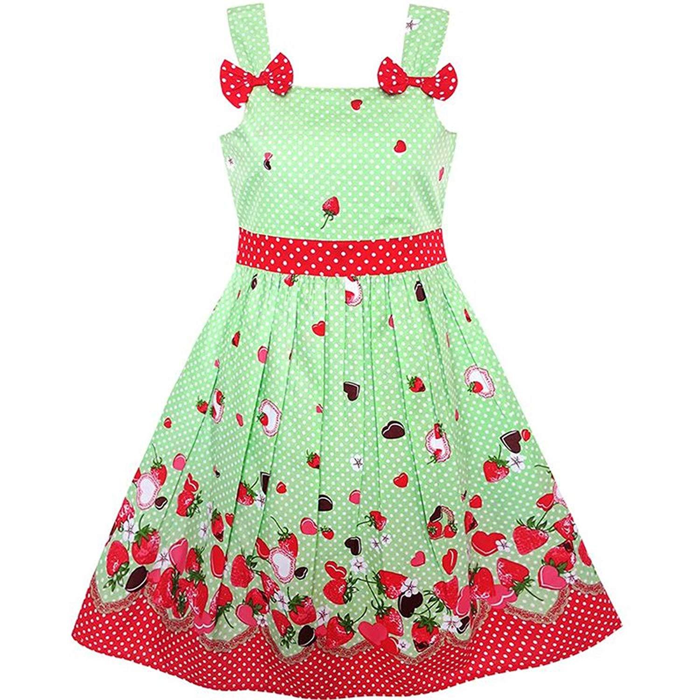 7573e9174053 Get Quotations · Fashion Girls Dress Blue Bug Pink Dot Children Clothing  Cotton 2018 Summer Princess Wedding Party Dresses