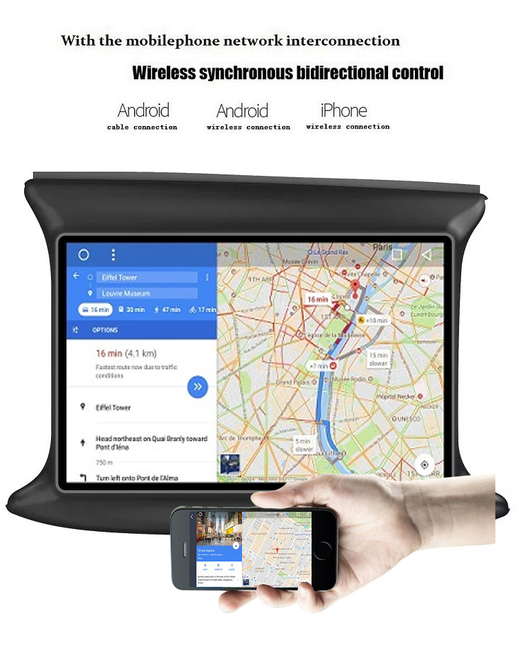 Wholesale big touch screen gps for car android auto car stereo with,radio bluetooth,4g,wifigps navigation For 2014 Fiat 500