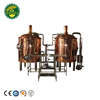 500L Copper Red Steam/Electric/Direct Fired Brewhouse for Brewing Beer