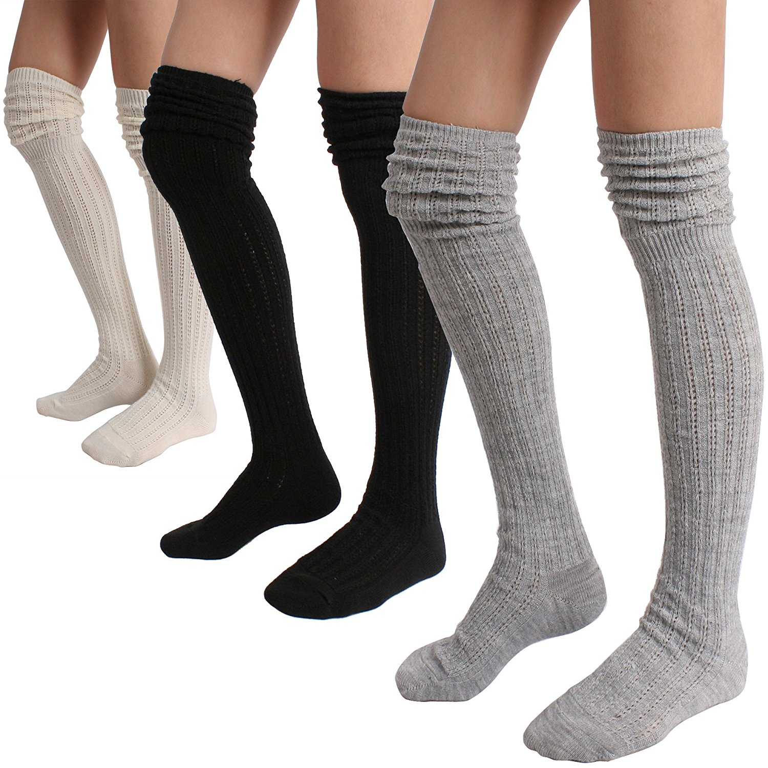 5f97ed9df Buy Winter Slouch Top Over The Knee High Wool Knit Socks in Cheap ...