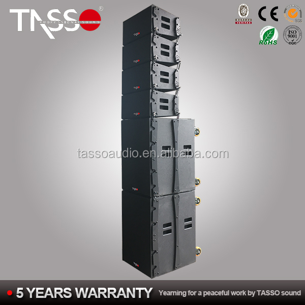 8+4 Powersoft Active line array sound system ,speaker box line array system,outdoor sound system
