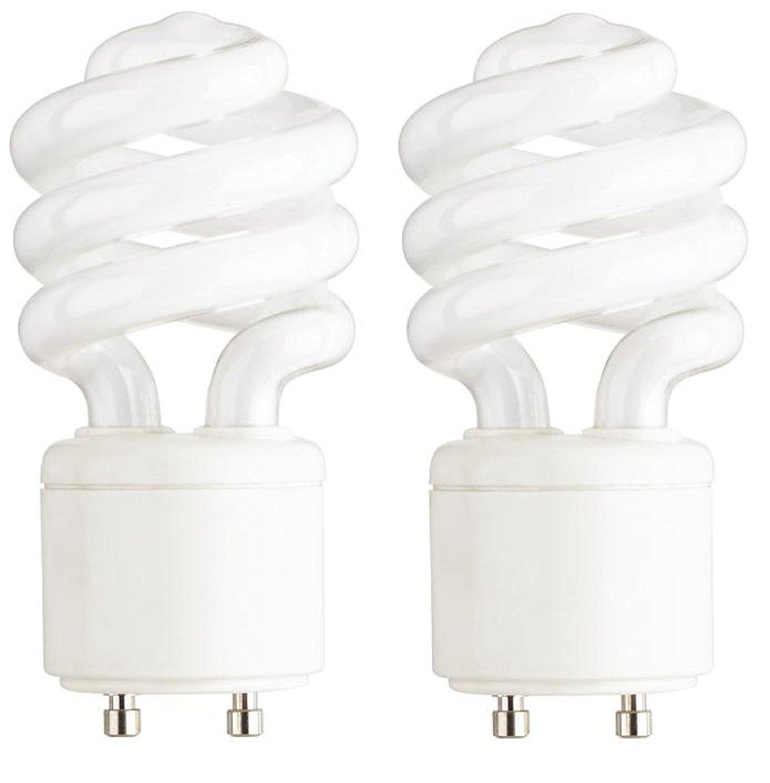 Dysmio Lighting - Mini-Twist CFL Light Bulb 60 Watt Equivalent 2700K (2-Pack)
