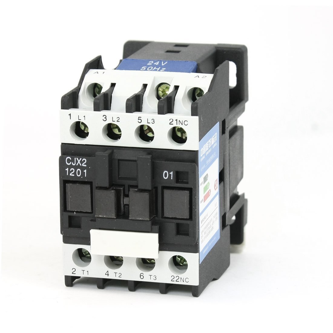 uxcell CJX2-1201 AC Contactor 24V 50Hz Coil 12A 3-Phase 3-Pole 1NC