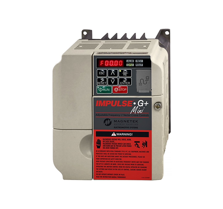 Magnetek IMPULSE G+ Mini VFD, 3FLA, 1/2HP, 230VAC, Part No. 2003-G+M