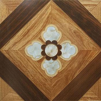 600x600mm Wood Tiles Design Flower Pattern Parquet Flooring Ceramic