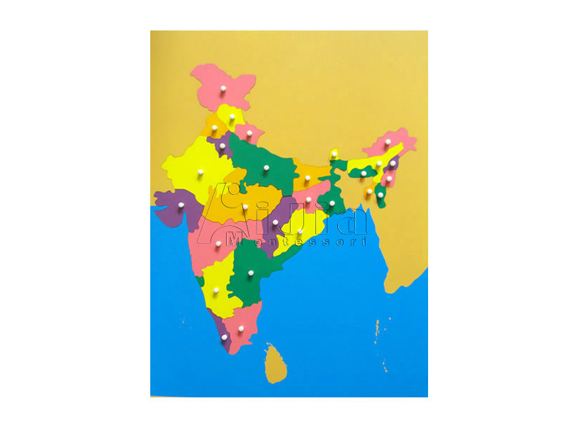 India Map Puzzle.Puzzle Map Of India China Educational Toys Montessori Wooden