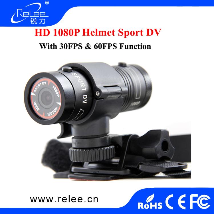 Full HD 1080P Sports Camera w// Handlebar Helmet Car Mounts 1 Year Warranty 9cm L