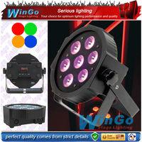 7 led 4in1 RGBW light bulb par 60/ led slim par/led flat par stage light